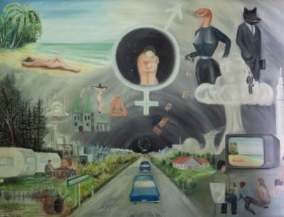 Die-Lemminge-1987-78x102-Oel