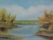 Herbst-an-der-Wuemme-2012-36x48-Aquarell