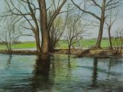 Hochwasser-an-der-Nidder-2012-36x48-Aquarell-IPB