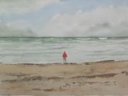 Julia-und-das-Weltmeer-nach-CD-Friedrich-2012-24x32-Aquarell