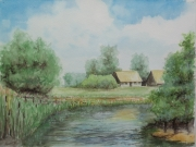 Sommer-an-der-Wuemme-2012-30x40-Aquarell